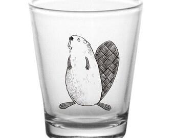 """Beaver """"Praise Gaia"""" shot glass"""