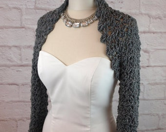 Crochet Pattern Shrug Easy Crochet Pattern Wedding Crochet Pattern Bridal Shrug Bridal Bolero Long Sleeve Crochet Shrug Pattern