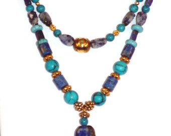 Magnificent Turquoise and Lapis Neckace