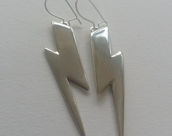Bowie-esque lighting bolt earrings