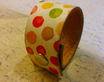 Decoupaged Leather Bracelet