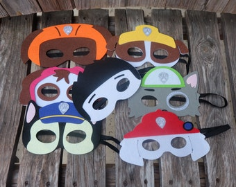 Paw Patrol Felt Masks / Paw Patrol Birthday Party Favors!