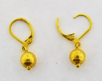 Ball vermeil earrings