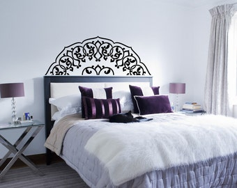 Superb Headboard Wall Decal  Bedroom Headboard Decal  Half Mandala Decal  Bedroom  Wall Decal