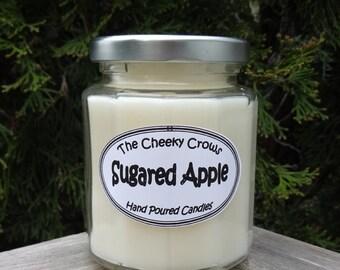Sugared Apple Candle, Apple Candle, Christmas Candle, White Candle, Scented Candle, Soy Candle, Winter Candle, Christmas Gift, Jar Candle