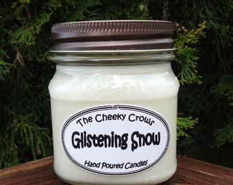 Spruce Peppermint Candle, Bayberry Candle, Scented Candle, Winter Candle, Soy Candle, Glistening Snow, Spruce Candle, Christmas Candle