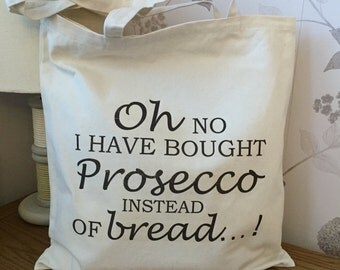Prosecco Bag 8oz Cotton Canvas Tote Bag