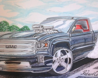 2014 GMC SIERRA, Custom Truck