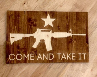 Come and Take It M4 Wall Art