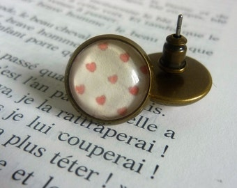 """""""Nail"""" heart earrings"""