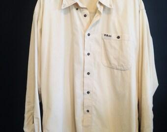Vintage Cream Courduroy Shirt