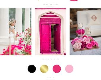 Branding Kit, Branding Package, Premade Logo, Custom Logo, Gold Logo, Pink Logo, Calligpaphy Logo, Photography Logo, Wedding Logo