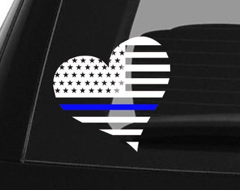 Thin Blue Line Decal Police Decal Blue Lives Matter Law Enforcement Car Decal Police Lives Matter Police Officer American Flag Sticker