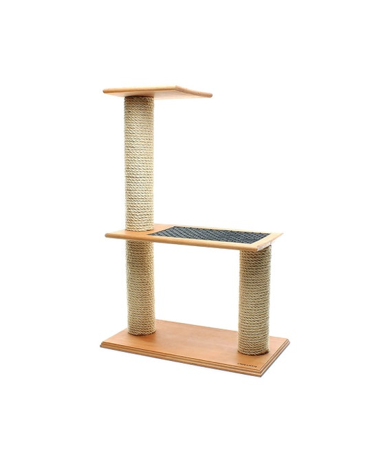 Items similar to solid wood scratching post step cat for Cat tree steps