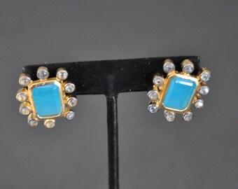 Antique finish Earrings With Changeable Stones