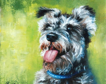 Art Commission, Pet Portrait, Custom Pet Portrait on Canvas from Photograph by Roger Pan