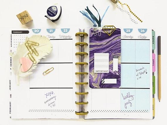 Custom laminated dashboard mambi happy planner dashboard for Happy planner accessories