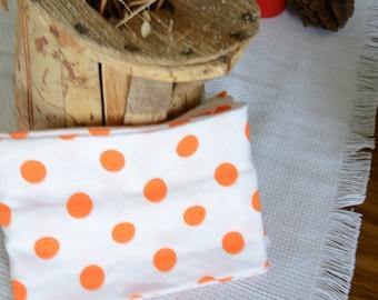 Orange Polka Dot Infinity Scarf