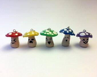 Mushroom Charm - Polymer Clay