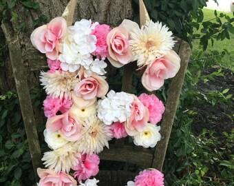 Custom Floral Letter, Baby Girl Nursery, Floral Name, Flower Letter, Flower Name, Boho Nursery, Flower Nursery, Nursery Decor, Nursery Name