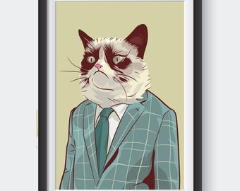 Business Grumpy Cat poster