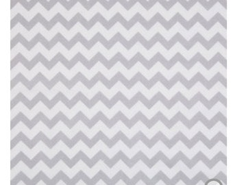 Gray and white chevron