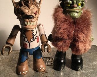 Mezco ''WOLFMAN and FRANKENSTEIN'' 3'' mini figures.