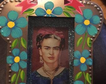 Frida Kahlo Nicho Tin