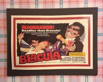 Blacula Vintage Concert Poster 12'x18' Reproduction // Blaxploitation // Dracula // Vampire // 1970s // Spoof