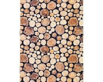 Ikea Home MARGARETA Fabric Wood log white brown black