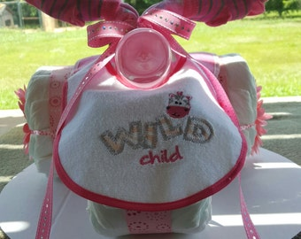 Wild Child Tricycle Diaper Cake