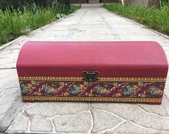 Gift box / Wood box/ Jewelry box / Handmade storage box chest decoupage/ Шкатулка ручной работы декупаж