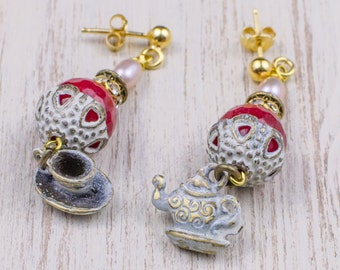 Tea time earrings