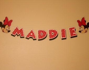 Minnie Mouse Name Banner - Personalized