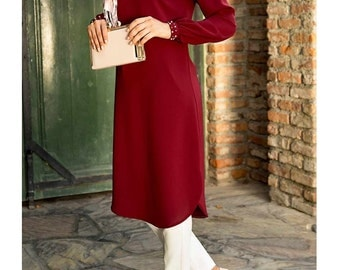 Dark Red Tunik
