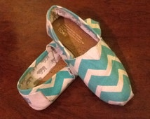 Chevron Fabric-Teal