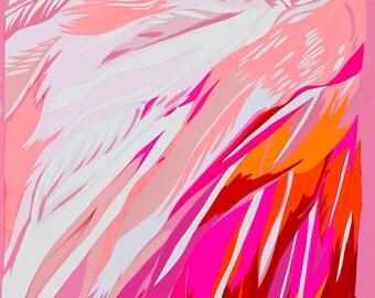 Amaranth flamingos limited edition signed art print