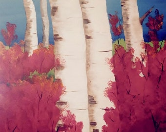 Birch Trees and Red Trees
