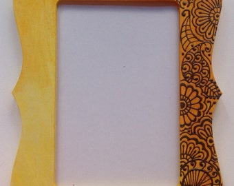 Henna painted wooden frame