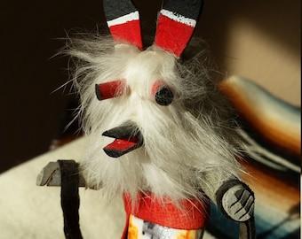 Wolf Kachina Doll Master Hunter Kweo Native American Hopi