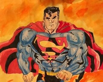 Superman in fire