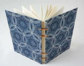 Journal, Art Journal, Notebook, Sketchbook or Guestbook, Hand-Bound with upcycled fabric