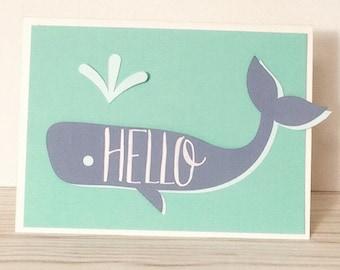 Hello Whale Card