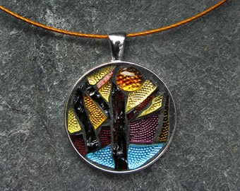 Little Trees Mosaic Pendant