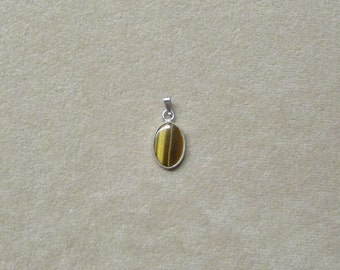 Tiger's Eye STERLING silver pendant.