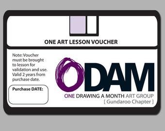 ONE ODAM Art Lesson Voucher