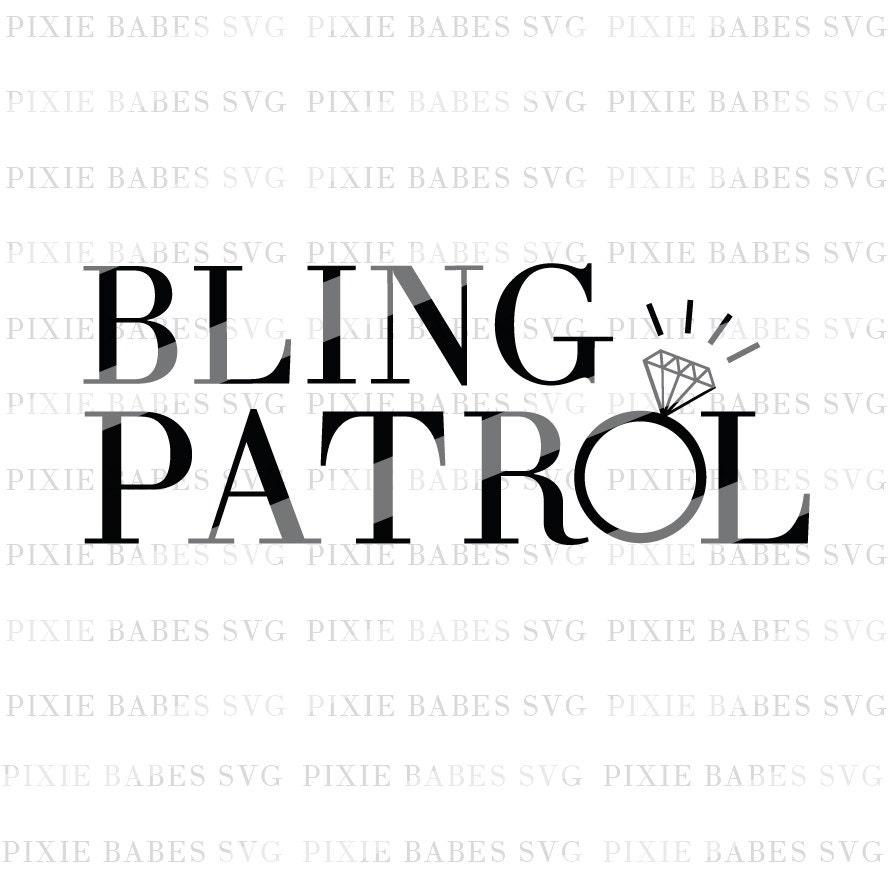 Bling Patrol SVG, Ring Bearer SVG, Ring Patrol SVG ...