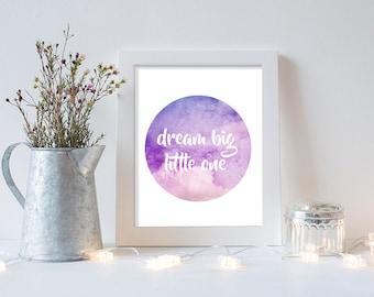 Customised Nursery Print | DREAM BIG