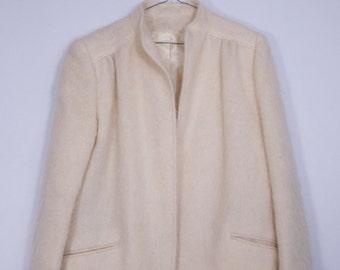 vintage wool mohair textured minimalist Vintage women's jacket vintage jacket SZ S-M