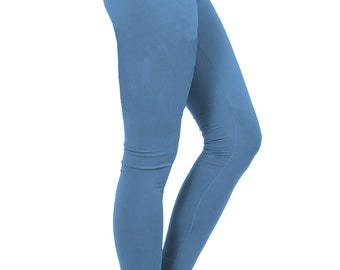 yoga pants women, yoga leggings, yoga clothes, sea blue pants, sapphire pants, blue leggings, yoga tights, yogawear, sky blue, fall blue sky